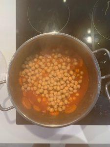 préparation VG pois chiche à l'orientale